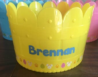 Personalized Easter Basket With Name Custom Easter Basket