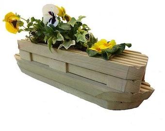 Canal Boat Narrow Boat Planter Wooden Garden Ornament