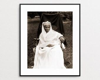 Harriet Tubman Photo - Underground Railroad - Black History - Abolitionist - African American - Wall Art - Human Rights - Suffragette