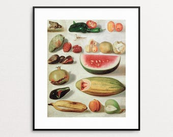 Hermenegildo Bustos - Still Life With Fruit, 1874 - Mexican Art Print - Mexican Painting - Mexican Decor - Latino Art - Meican Print