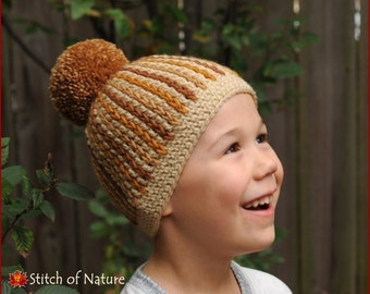 Crochet PATTERN - The Redwood Beanie Pattern  (Toddler to Adult sizes - Girls and Boys) - id: 16048