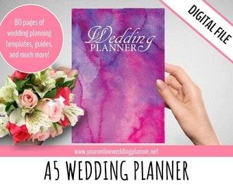 Printable Wedding Planner A5, DIY Wedding Organizer, ULTIMATE Wedding Planner, PDF, simple wedding planner, printables