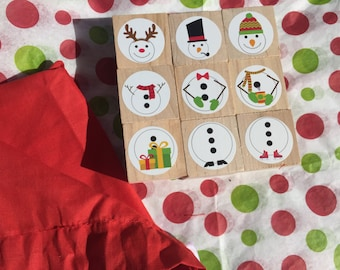 STOCKING STUFER, Build a snowman, stacking blocks for toddlers and preschool children, unique childrens christmas gift, christmas eve box