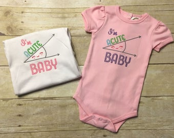 Math baby bodysuit, gift for math teacher baby, geek baby, baby nerd, smart girls bodysuit, funny baby gift, acute baby