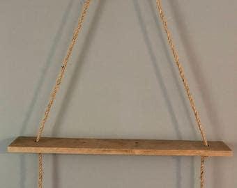 Rustic Rope & Pallet Shelving