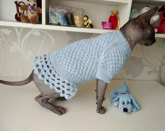 Dress for a Cat, Dress for a Sphynx, Cat Clothing, Dress for a Dog, Dog Clothing