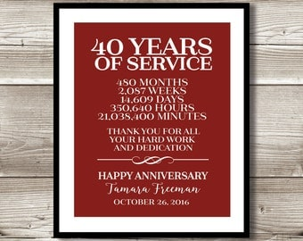 Years Of Service Etsy