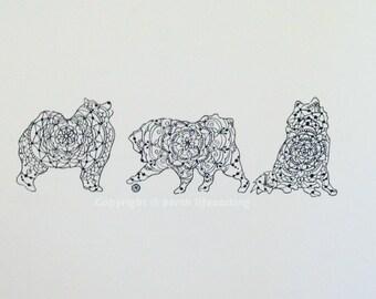 Mandala Samoyed Print