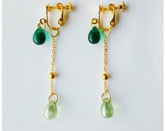 Earrings for non pierced ears, earrings screw, dangling earrings, mothers day gift