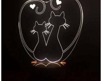 3D Cats Lamp