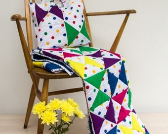 Patchwork Hourglass Childs Quilt