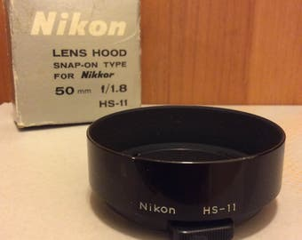 Vintage - Nikon HS-11 - LENS HOOD - Snap-on Type - For Nikkor 50mm f/1.8 - Japan