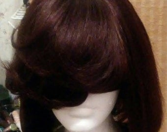 bob human hair wig color brown