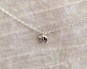 Elephant Necklace-Tiny Elephant Necklace-Silver Elephant Necklace-Small Elephant Necklace-Delicate Elephant Necklace-Dainty Elephant Charm
