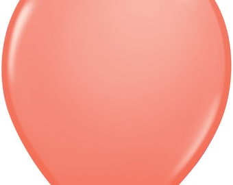 "15 or 30 - 11"" latex Coral balloon"