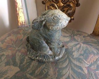 Vintage Statue, Bunny, cement