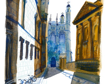 King's College Chapel in Cambridge, England Print