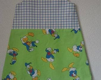 A line dress pinafore Donald Duck Disney a lijn jurkje kleid size 7-8