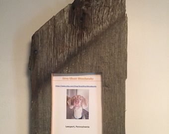 Reclaimed barnwood picture frame 5x7