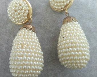Vintage clip earrings, earrings years 1980, 1980 's earrings