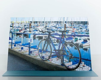 Greeting Card:  Blue Bicycle