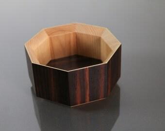 Desk Organizer / Wooden Desk Organizer / Ebony Box / Small Wooden Box / Wooden Tray / Desk Storage / Office Organizer