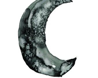 Monochrome moon print