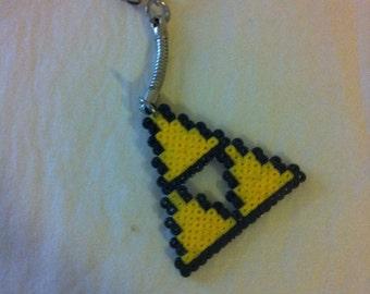 """Door key Triforce """"The Legend of Zelda"""" Pixel art / Perler Beads"""