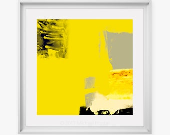 LARGE Size Modern Print - yellow abstract art, fine art prints, digital artist, vibrant colours, art for modern clean spaces, modern artists