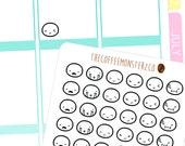 emoti heads pt.4 - emoti planner stickers E114