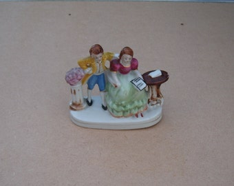 Ceramic Figure of a Young Couple - Made in Japan - Vintage Ceramic