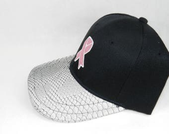 Custom Pink ribbon Breast Cancer Hat