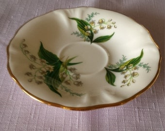 Hammersley Bone China Victorian Lily of the Valley Orphan Saucer