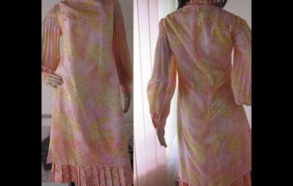 vintage 60s charleston dress plissee kleid robe m. Black Bedroom Furniture Sets. Home Design Ideas