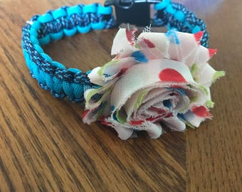 10 inch collar with flower