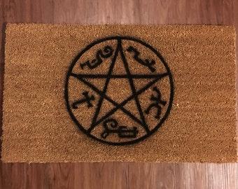 Devil's Trap (Supernatural) Inspired Decorative Doormat