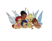 Tinkerbell and Fairies Friends Iron On Applique, Genuine Disney Iron On Patch, Tinkerbell Patch, Tinkerbell Applique, Disney Applique
