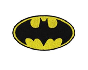 Batman Logo Iron On Applique, Batman Patch, Genuine DC Comics Iron On Patch, Batman Applique, Superhero Applique, Kids Patch, 2.25x4