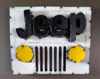 Metal Jeep Grill Sign