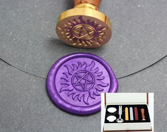 Supernatural Pentagram Wax Seal Stamp Kit-Sealing Wax Kits-Wax Seal Stamp Kits-Custom Wax Seal Gift Box Package-Wax Stamp Seal Set