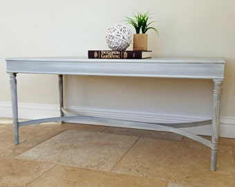 Reserved for Karen - Vintage Wooden Coffee Table for Living Room in Grey