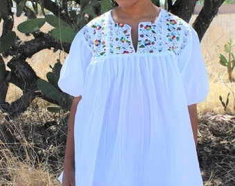 Mexican Blouse Top Boho Style