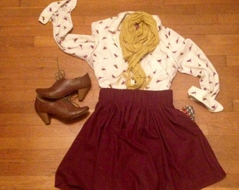 Merlot Skirt, Full w/ POCKETS!