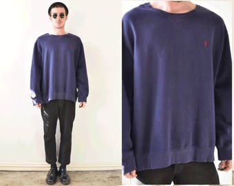 Polo By Ralph Lauren Navy Blue Pullover Sweater