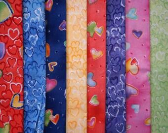 Still Crazy for Daisy by Jennifer Sampou for Robert Kaufman - Quarter Yard Bundle - 8 pieces