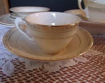 Vintage Crown Potterie/ Crown Ivory/ Dish Set, 47 pieces, (#987/62)