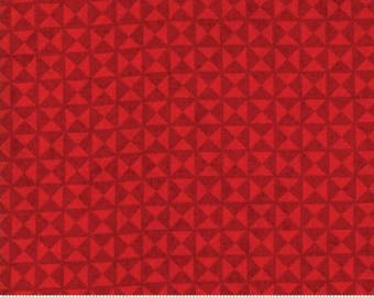 """End of Bolt, Quilt Block in Scarlet Red from the Berry Merry Collection by BasicGrey for Moda, Christmas, Holiday 24""""x44"""""""
