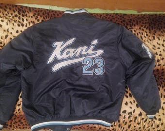 Karl Kani jacket vintage blue hip hop jacket 2pac 90s hip-hop clothing, 1990s hip hop shirt, OG, gangsta rap, size XXL, RARE!!!