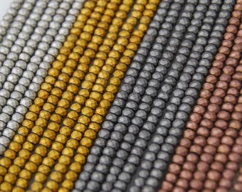 Matte Plated Hematite Faceted Roundelle Loose Beads. Size: 2x3mm 15.5 '' Long Per Strand. R-FM-HEM-0116