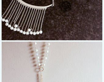 Free shipping SALE! Beads pearl long necklace